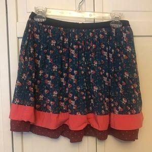 435 Matilda Jane Tween Floral Skirt Size 12